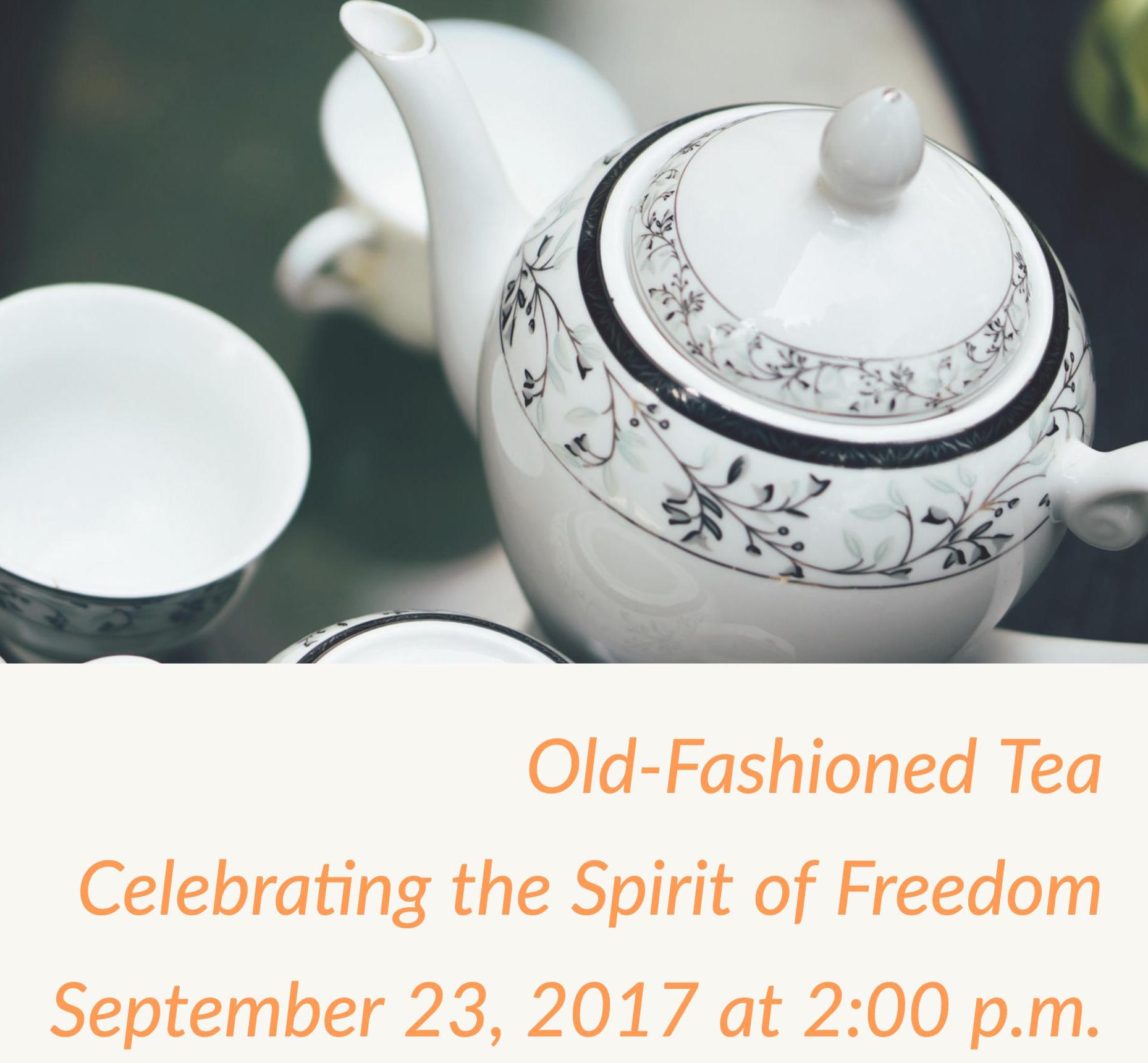Annual Old Fashioned Tea